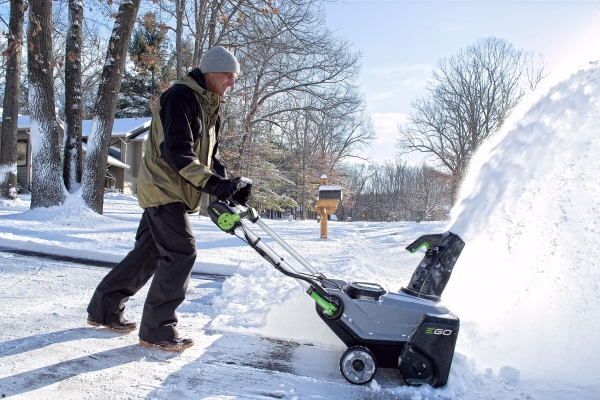 Power+ Snow Blower in use